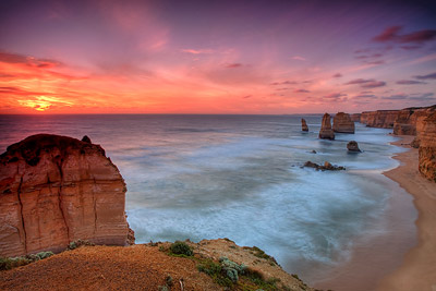 Sunset over Twelve Apostles
