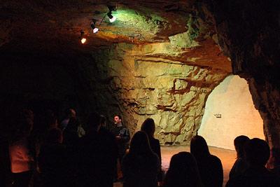 Chislehurst Caves stage - Pink Floyd, David Bowie, Jimi Hendrix