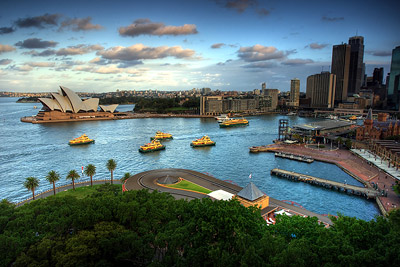 Sydney Opera House and CBD from Harbour Bridge