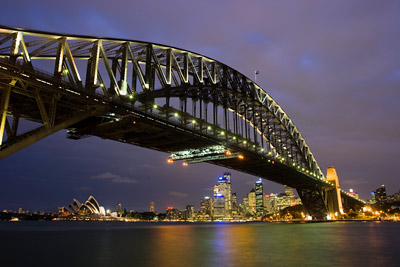 Sydney Skyline - Harbour Bridge and Opera House