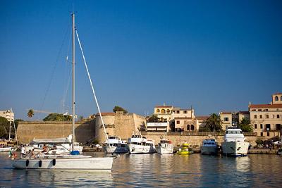 Yachts in Alghero