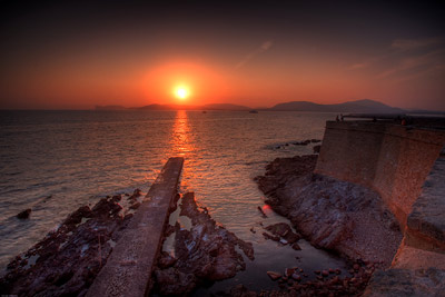 Alghero Sunset Red