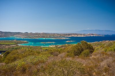 View from Caprera looking back to Maddalena
