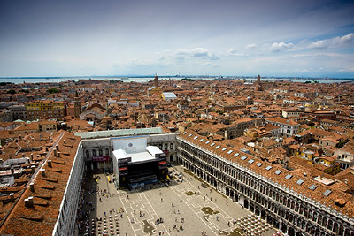 View from atop St Mark's Campanile