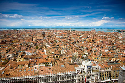 Endless views over Venice