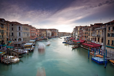 Slow waters over Venice