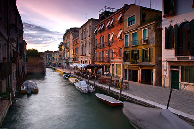 Rich buildings in Venice
