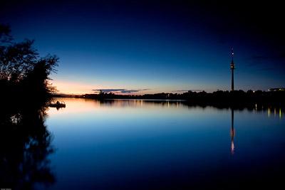 Danube Vienna Sunset