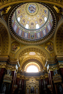 Inside of the Basilica, Budapest