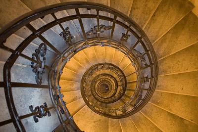 Basilica winding staircase, Budapest