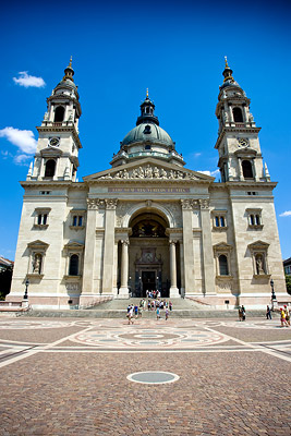 Front view of the Basilica