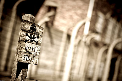 Halt Sign Auschwitz