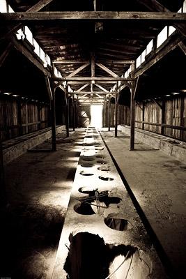 Toilets in Auschwitz Birkenau