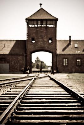 Infamous Railway Entrance Auschwitz Birkenau