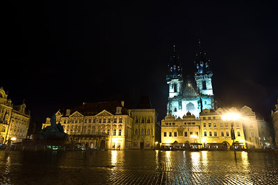 Old Town Square at Night, Prague