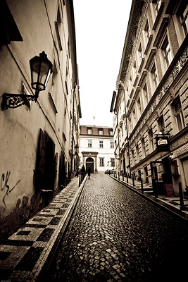 Cobbled Street in Prague