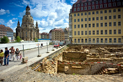 Historic Underground Basement and Frauenkirche, Dresden