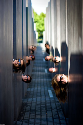 Holocaust Memorial, Berlin, faces
