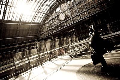 St Pancras Station - Man Statue