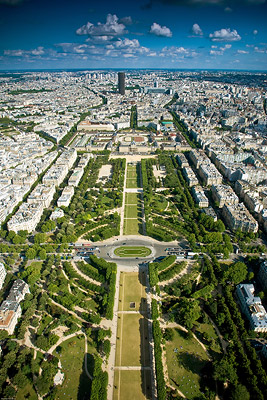 Champs de Mars from Eiffel Tower