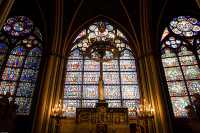 Notre Dame Stained Glass Window