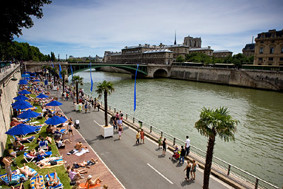 Beach along River Seine
