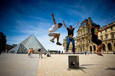 Jumping at Louvre