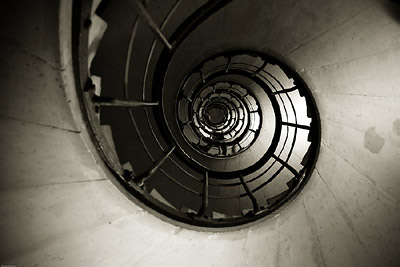 Stairwell inside Arc de Triomphe