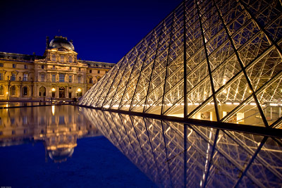 Still waters Louvre Pyramid