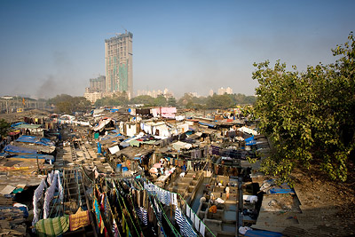 Dhobi Ghat, Mumbai - clothe washing