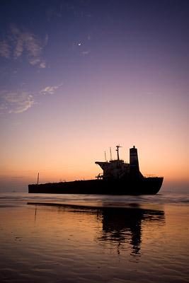 Candolim Beach Shipwreck Sunset
