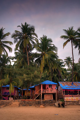 Beach shacks Palolem