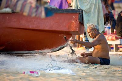 Calangute Goa fisherman