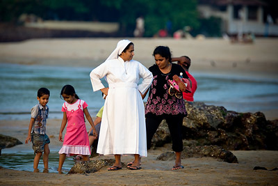 Baga Beach Nun