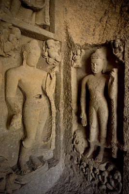 Kanheri Caves sculptures