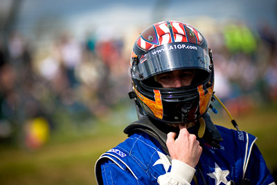Team USA - JR Hildebrand on the grid of Brands Hatch