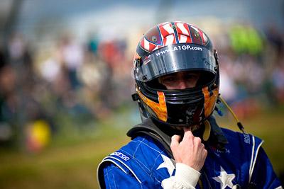 Team USA - JR Hildebrand on the grid of Brands Hatch
