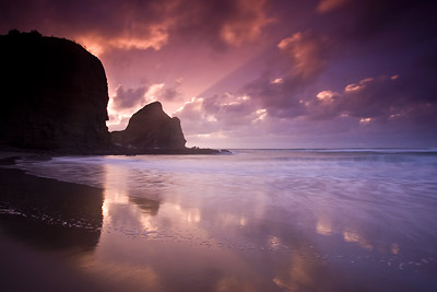 Piha Glow Sunset